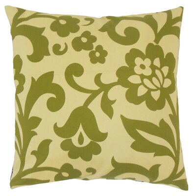 Fisseha Floral Cotton Throw Pillow Cover Color: Kiwi