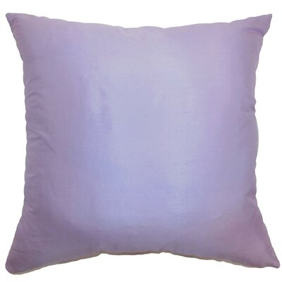 Desdemona Plain Silk Throw Pillow Size: 22 x 22