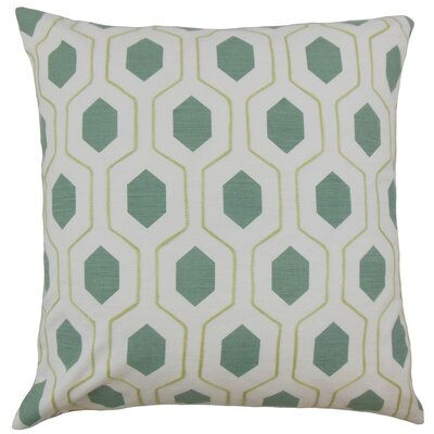 Flynn Geometric Linen Throw Pillow Cover Color: Spa