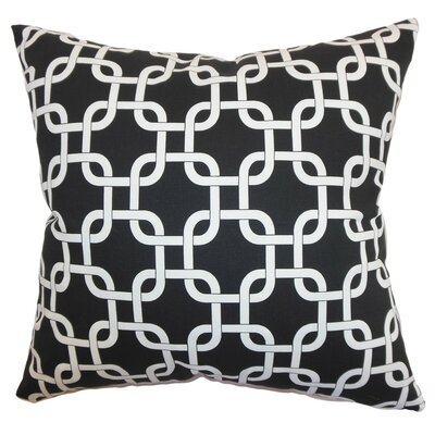 Qishn Geom Throw Pillow Cover Color: Black