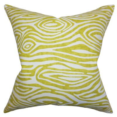 Thirza Swirls Throw Pillow Cover Color: Artist Green