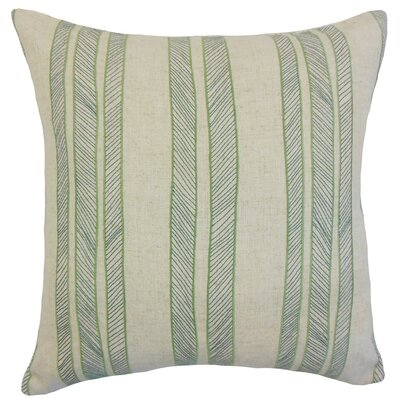 Drum Stripes Cotton Throw Pillow Cover Color: Grass