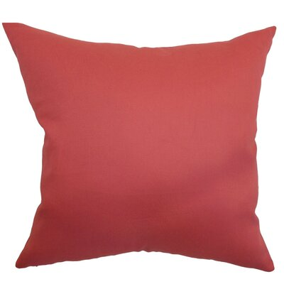 Giula Plain Linen Throw Pillow Size: 18 x 18
