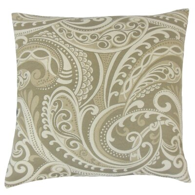 Natashaly Damask Throw Pillow Cover Color: Linen