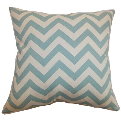 Burd Zigzag Throw Pillow Cover Color: Aqua Natural