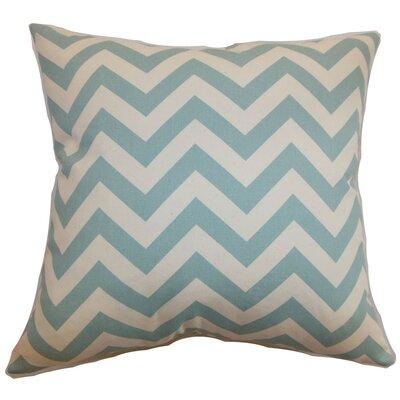 Burd Zigzag Throw Pillow Cover Color: Aqua Natural