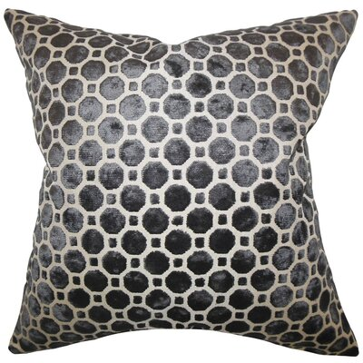 Maeve Geometric Bedding Sham Size: King, Color: Black
