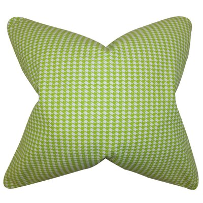 Lviv Houndstooth Bedding Sham Size: Euro, Color: Green