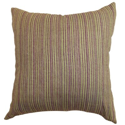 Mace Stripes Raw Silk Throw Pillow Size: 18 x 18