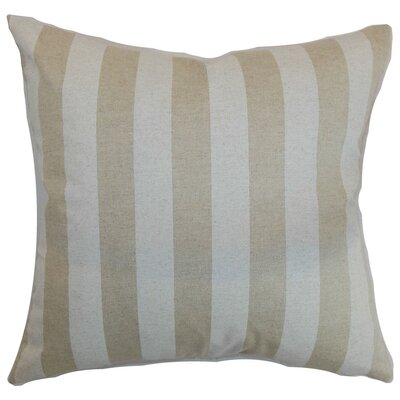 Ilaam Stripes Throw Pillow Cover Color: Cloud Linen