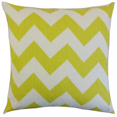 Buntin Zigzag Throw Pillow Cover Color: Linden