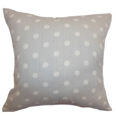 Rennice Ikat Dots Throw Pillow Cover Color: Natural