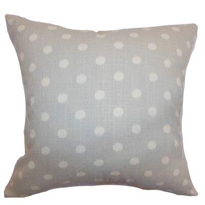 Rennice Ikat Dots Throw Pillow Cover Color: Natural