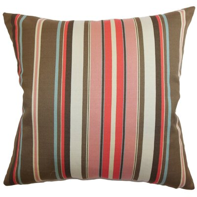 Janeah Stripes Cotton Throw Pillow Size: 18 x 18