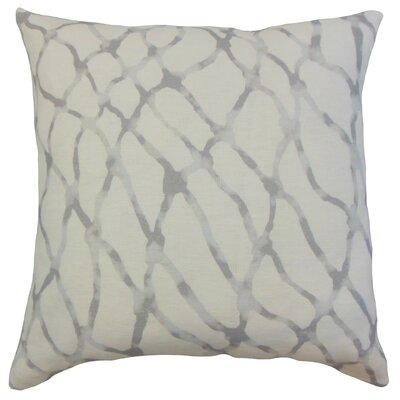 Ennise Graphic Linen Throw Pillow Cover Color: Stone