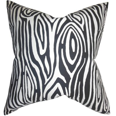 Thirza Swirls Throw Pillow Cover Color: Black