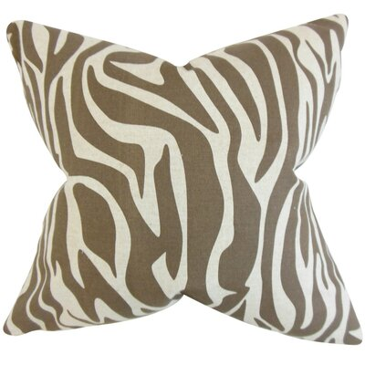 Dari Zebra Print Throw Pillow Size: 18 x 18