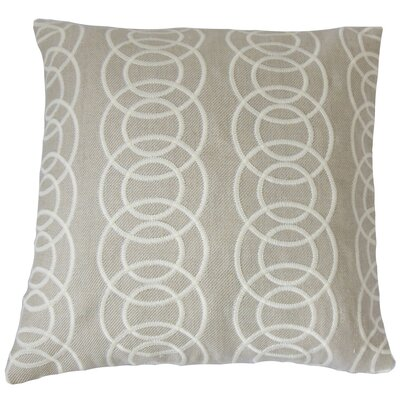 Nohealani Geometric Cotton Throw Pillow Size: 18 x 18