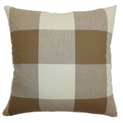 Kalen Plaid Cotton Throw Pillow