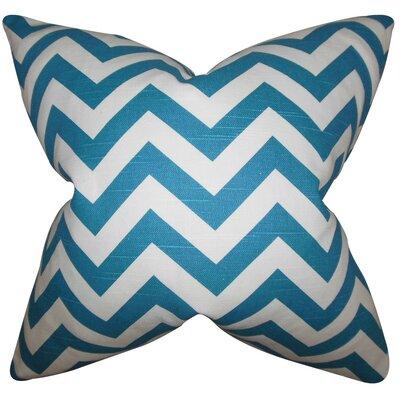 Burd Zigzag Throw Pillow Cover Color: Aquarius Blue