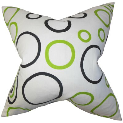 Curran Geometric Cotton Throw Pillow Cover
