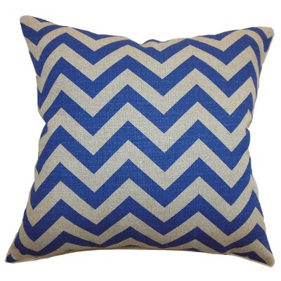 Burd Zigzag Throw Pillow Cover Color: Peacock Blue