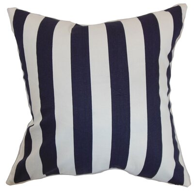 Ilaam Stripes Throw Pillow Cover Color: Blue