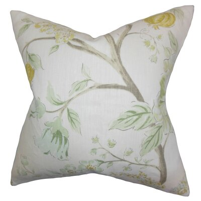 Ivria Floral Linen Throw Pillow Cover Color: Meadow