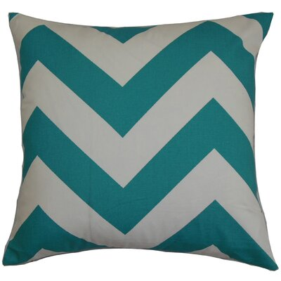 Eir Zigzag Throw Pillow Cover Color: Turquoise