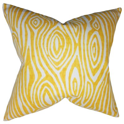 Thirza Swirls Throw Pillow Cover Color: Yellow