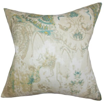 Havilah Floral Linen Throw Pillow Size: 18 x 18