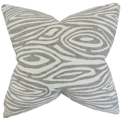 Thirza Swirls Throw Pillow Cover Color: Gray