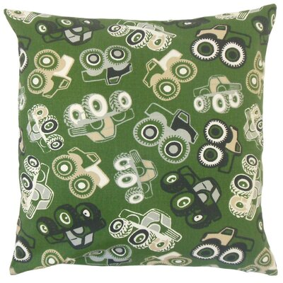Marcellus Graphic Cotton Throw Pillow Size: 18 x 18