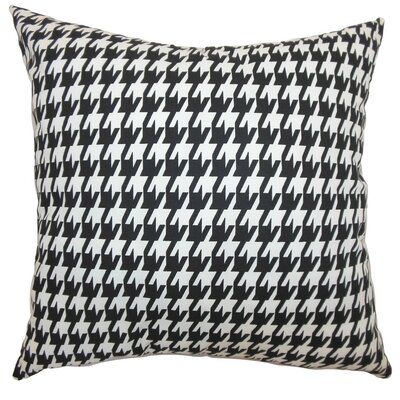 Ceres Houndstooth Cotton Throw Pillow Cover