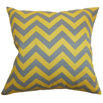 Xayabury Zigzag Throw Pillow Cover Color: Ash Corn Yellow