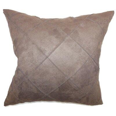 Nesbitt Plain Faux Suede Throw Pillow Size: 18 x 18