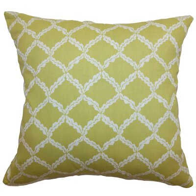 Quelah Floral Cotton Throw Pillow Size: 18 x 18
