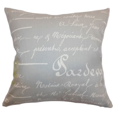 Saloua Typography Cotton Throw Pillow Cover Color: Reed Natural