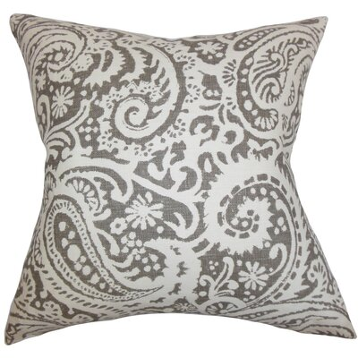 Nellary Paisley Throw Pillow Cover Color: Ash