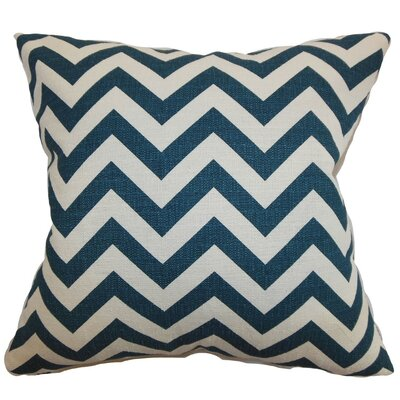 Burd Zigzag Throw Pillow Cover Color: Titan Birch
