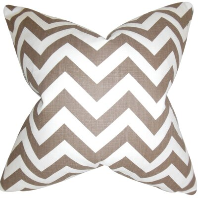 Burd Zigzag Throw Pillow Cover Color: Brown