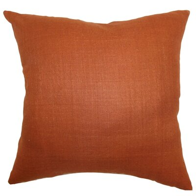 Zaafira Plain Silk Throw Pillow Size: 24