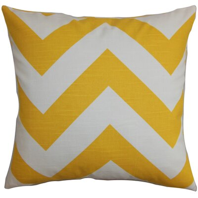 Eir Zigzag Throw Pillow Cover Color: Yellow