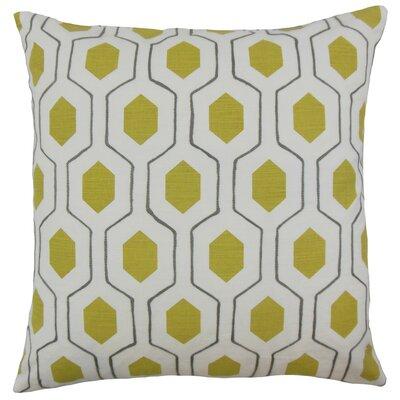 Flynn Geometric Linen Throw Pillow Cover Color: Pumpkin