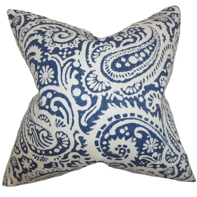 Nellary Paisley Throw Pillow Cover Color: Indigo