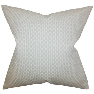 Orit Geometric Throw Pillow Cover Color: Oyster