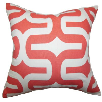 Libbie Cotton Throw Pillow Cover Color: Pink, Size: 18 H x 18 W