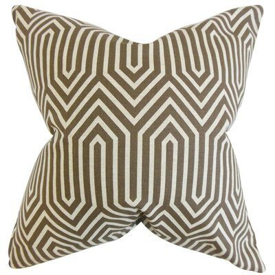 Jinan Geometric Cotton Throw Pillow Cover Color: Brown