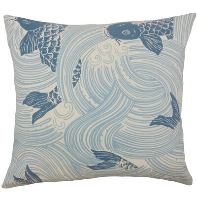 Ailies Graphic Throw Pillow Cover Color: Ocean
