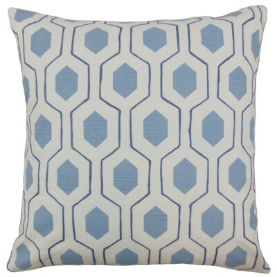 Flynn Geometric Linen Throw Pillow Cover Color: Coast
